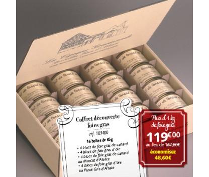 Offre Coffret découverte foies gras 16 boîtes de 65g