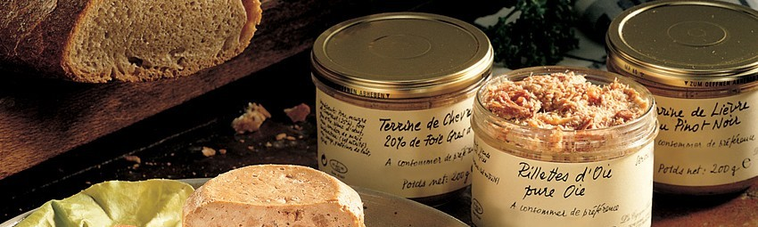 Terrines, rillettes